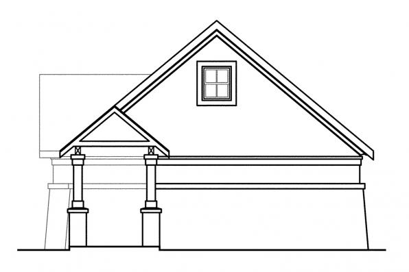 3 Car Garage Plan 20-019 - Left Elevation