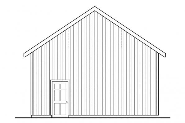 3 Car Garage Plan 20-051 - Left Elevation