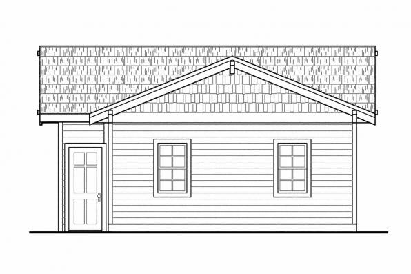 3 Car Garage Plan 20-056 - Left Elevation