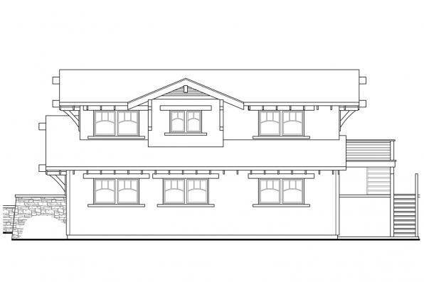 4 Car Garage Plan 20-115 - Left Elevation