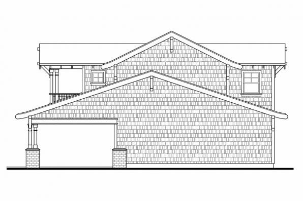 5 Car Garage Plan 20-052 - Left Elevation