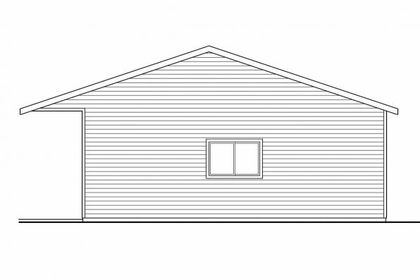 6 Car Garage Plan 20-038 - Left Elevation