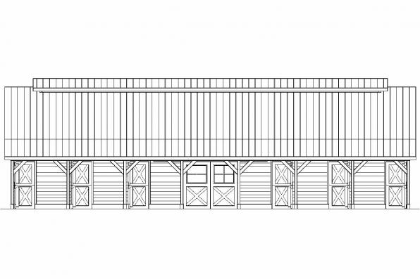 9 Stall Barn Plan 20-047 - Left Elevation