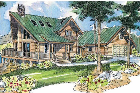 A-Frame House Plan - Stillwater 30-399 - Front Elevation