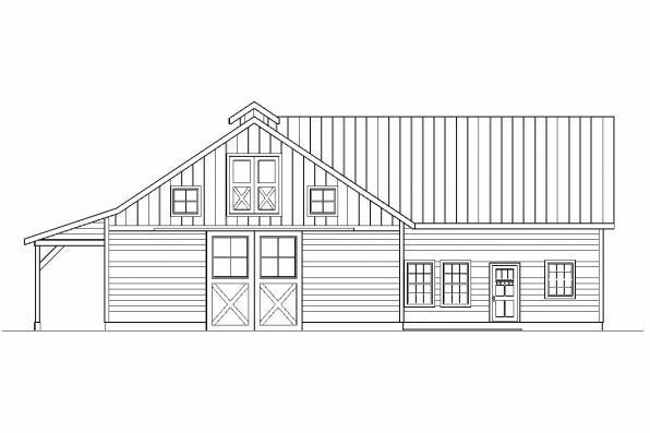 Barn Design 20-047 - Rear Elevation