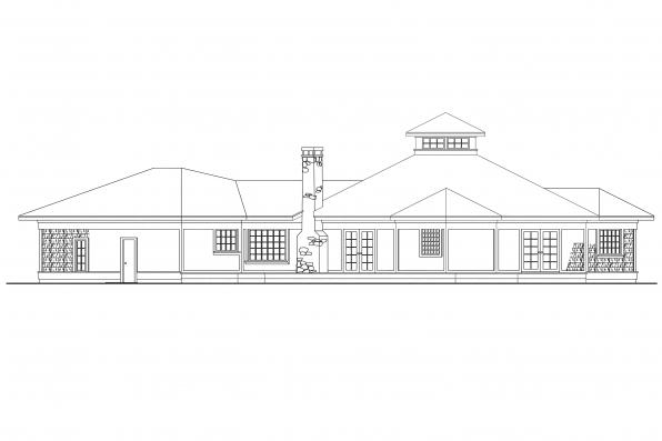 Beach House Plan - Clematis 10-073 - Rear Elevation