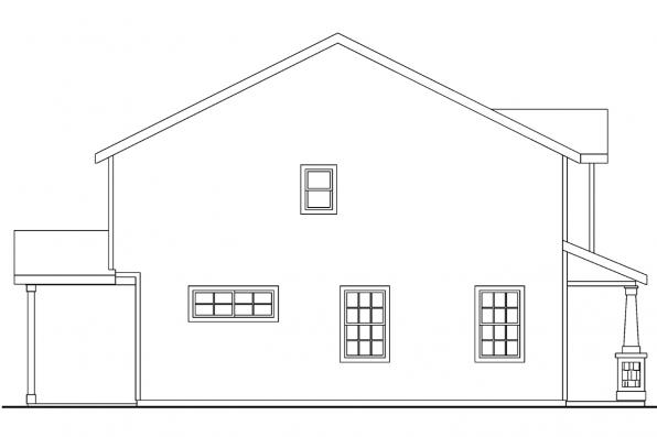 Beach House Plan - Elkridge 30-529 - Right Elevation