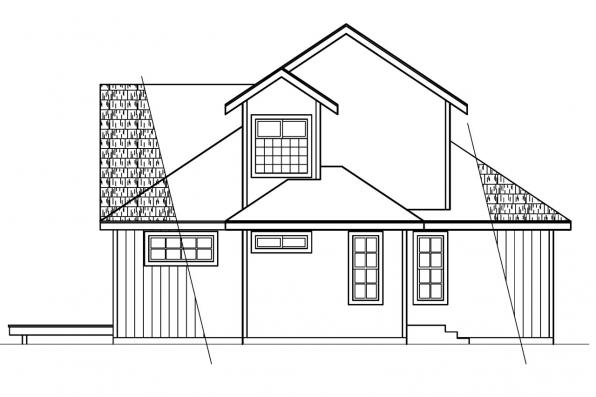 Beach House Plan - Elsberry 30-265 - Right Elevation