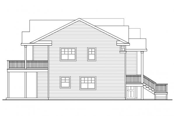 Beach House Plan - Snowberry 30-735 - Right Elevation