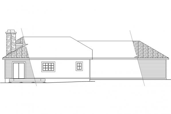 Beach House Plan - Trenton 30-017 - Rear Elevation