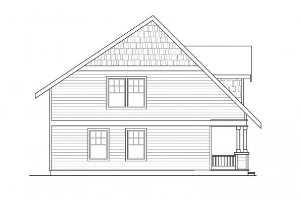 Bungalow House Plan - Bailey 30-262 - Right Elevation
