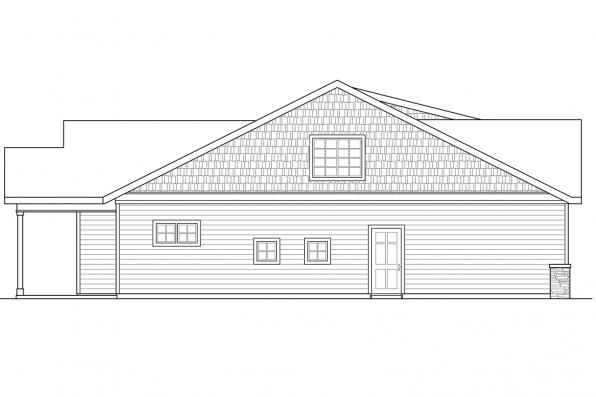 Bungalow House Plan - Cedar Ridge 30-855 - Right Elevation