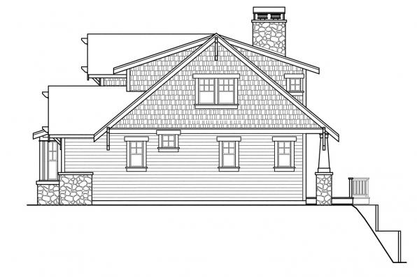Bungalow House Plan - Cedarbrook 10-561 - Left Elevation