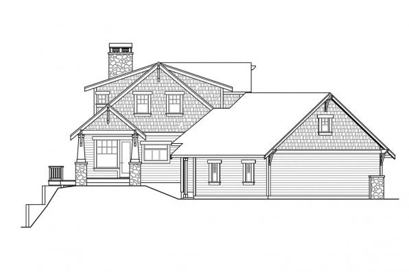 Bungalow House Plan - Cedarbrook 10-561 - Right Elevation