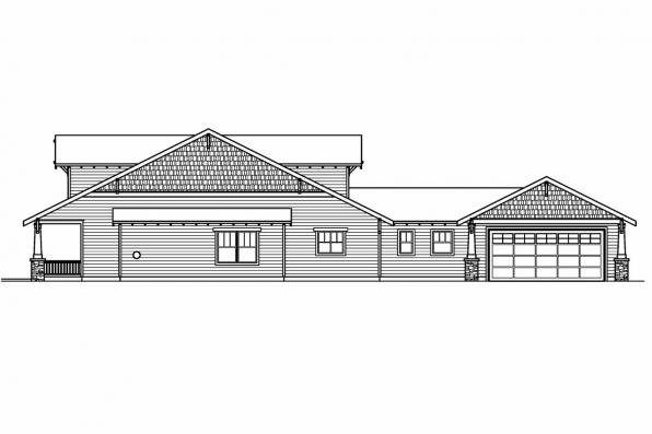 Bungalow House Plan - Fairfield 30-583 - Left Elevation