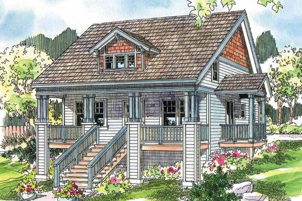 Bungalow House Plan - Fillmore 30-589 - Front Elevation