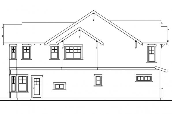 Bungalow House Plan - Mapleton 30-506 - Right Elevation