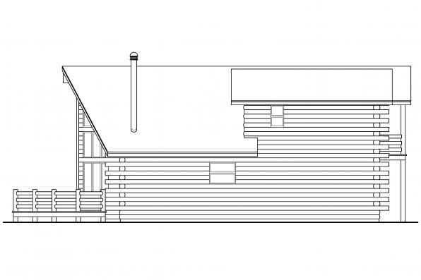 Cabin Plan - Eagleton 30-020 - Left Elevation