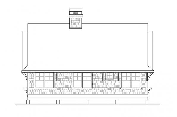 Cabin Plan - Glen Eden 50-017 - Rear Elevation