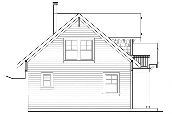 Cabin Plan - Northlake 30-504 - Right Elevation