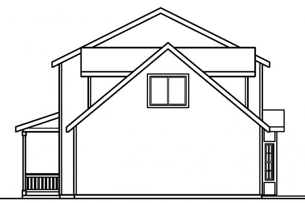Cape Cod House Plan - Adkins 30-197 - Left Elevation