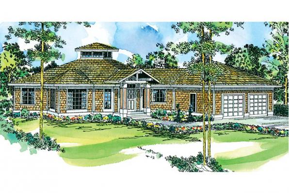 Cape Cod House Plan - Clematis 10-073 - Front Elevation