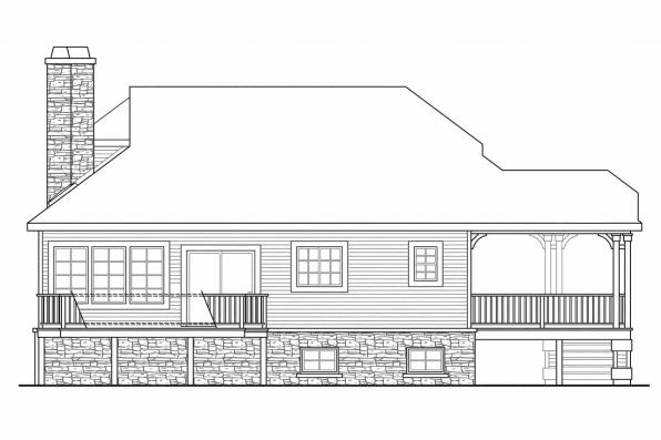 Cape Cod House Plan - Eagle Creek 30-725 - Left Elevation