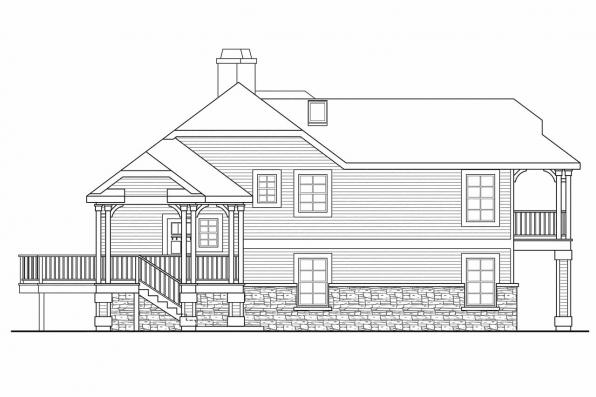 Cape Cod House Plan - Eagle Creek 30-725 - Right Elevation