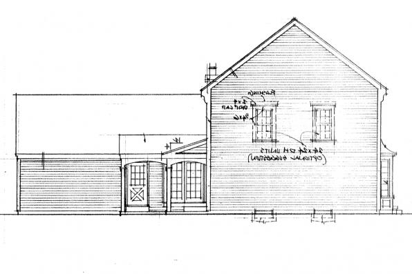 Cape Cod House Plan - Iverness 42-008 - Right Elevation