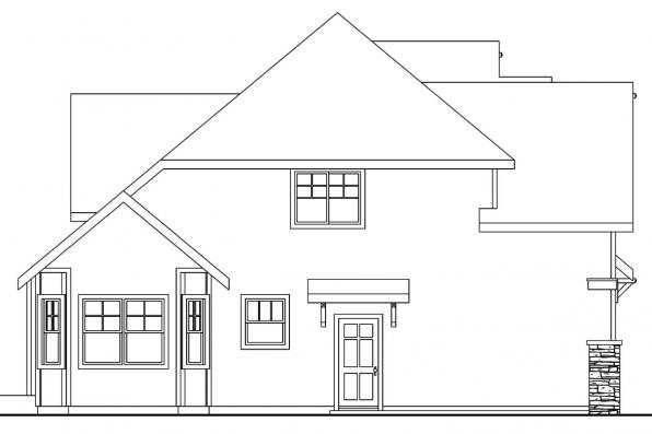 Cape Cod House Plan - Scarborough 30-530 - Right Elevation