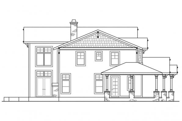 Cape Cod House Plan - Summerfield 30-611 - Right Elevation