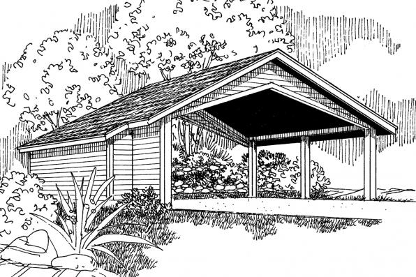 Carport Plan 20-048 - Front Elevation