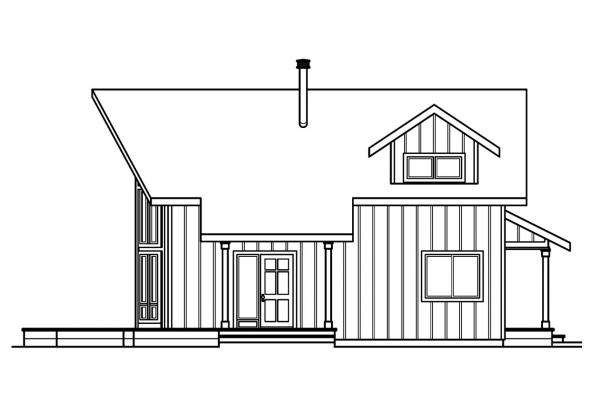 Chalet House Plan - Arnett 30-419 - Right Elevation
