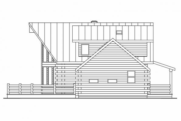 Chalet House Plan - Aspen 30-025 - Right Elevation