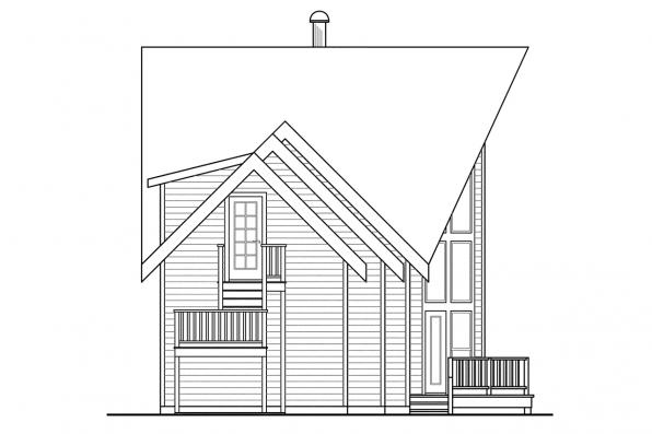 Chalet House Plan - Boulder Creek 30-814 - Right Elevation