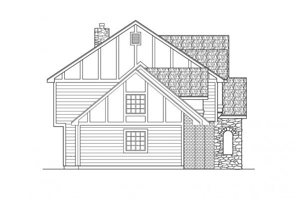 Chalet House Plan - Livingston 30-046 - Right Elevation