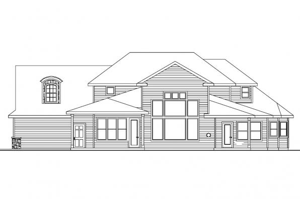 Chateau House Plan - Westchase 30-624 - Rear Elevation