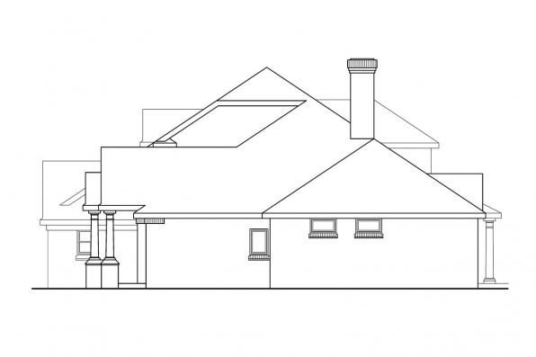 Classic House Plan - Ainsworth 10-355 - Left Elevation
