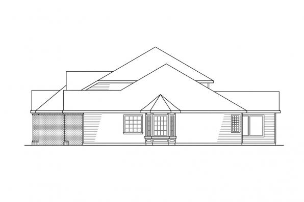 Classic House Plan - Aroland 30-121 - Left Elevation