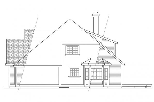 Classic House Plan - Berkley 10-032 - Left Elevation
