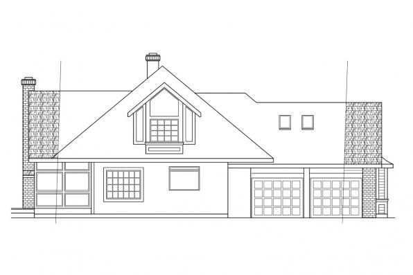 Classic House Plan - Blueridge 10-205 - Right Elevation