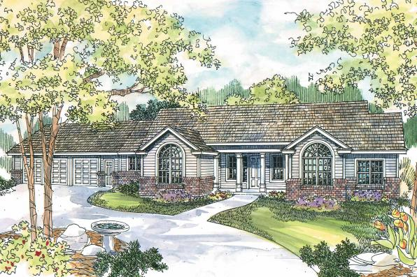 Classic House Plan - Burnham 30-481 - Front Elevation