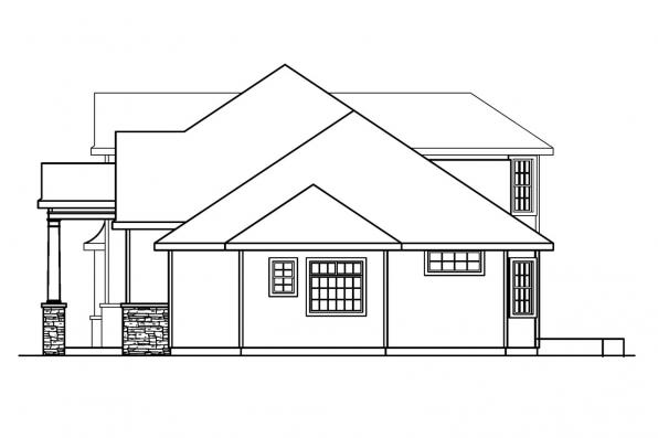 Classic House Plan - Crestwick 30-425 - Left Elevation