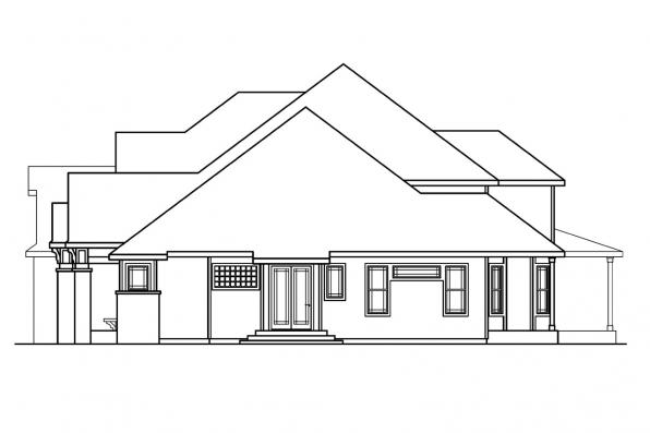 Classic House Plan - Hastings 30-361 - Left Elevation