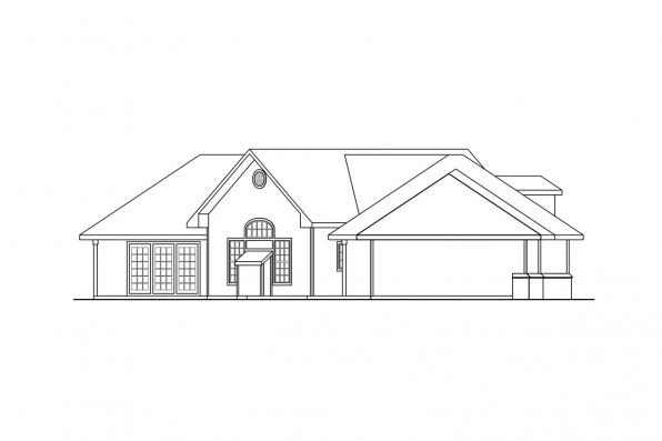 Classic House Plan - Hawthorne 30-054 - Right Elevation