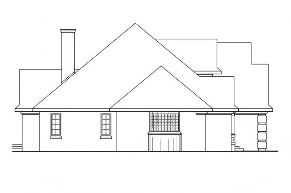 Classic House Plan - Hearthside 10-350 - Right Elevation