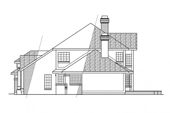 Classic House Plan - Heritage 10-044 - Left Elevation