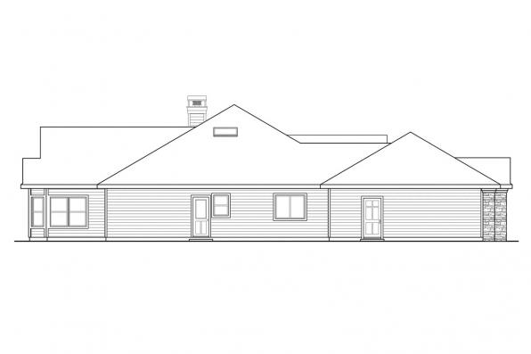 Classic House Plan - Meadow Lake 30-767 - Right Elevation