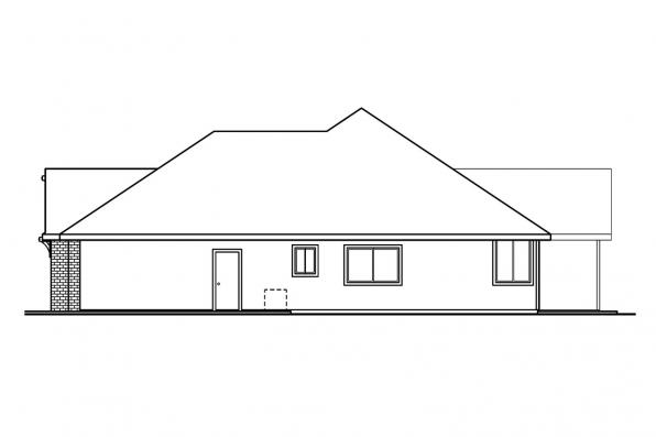 Classic House Plan - Ryland 30-336 - Left Elevation