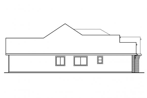 Classic House Plan - Ryland 30-336 - Right Elevation